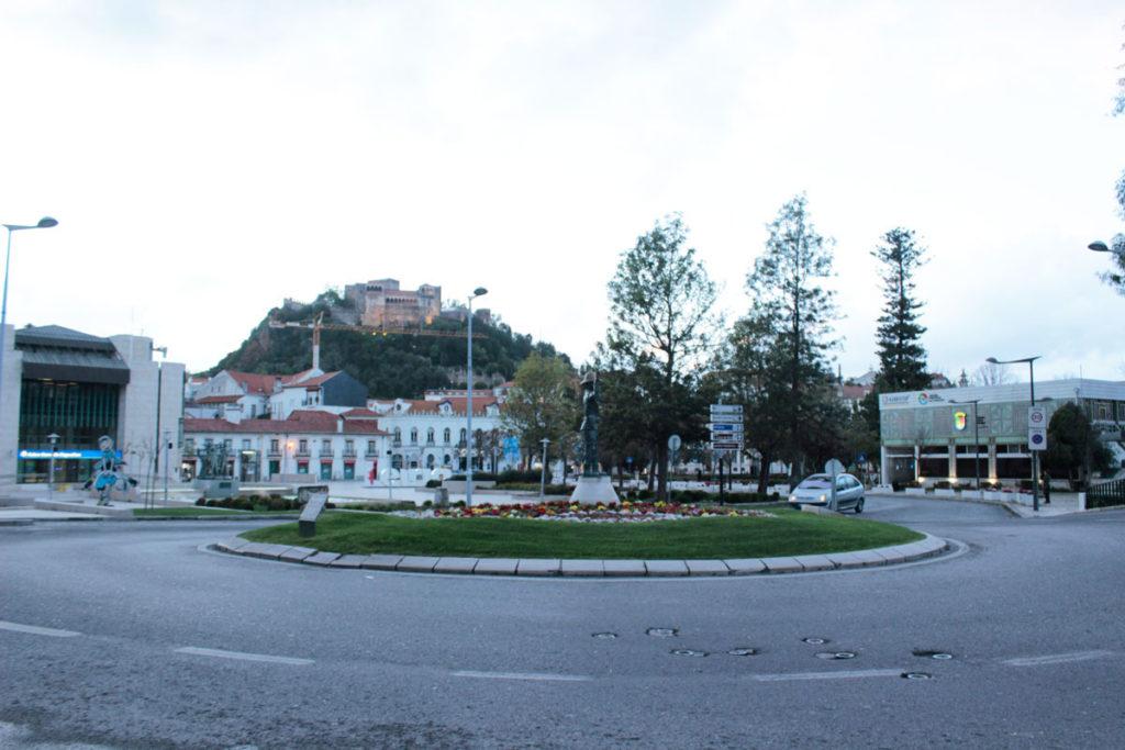 Rotunda do Sinaleiro, em Leiria
