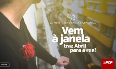 25 abril cantar à janela