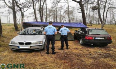 GNR Leiria Caravana ilegal