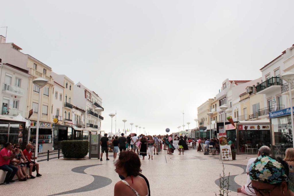 Praça Central na Nazaré