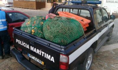 Rede pesca ilegal Policia Maritima