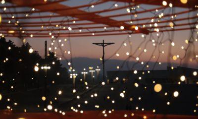Santuário de Fátima iluminado