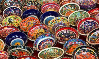 Loiça e taças decorativas