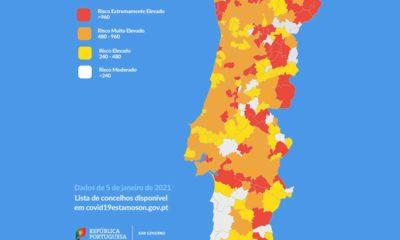 Mapa risco covid-19 5 jan 2021