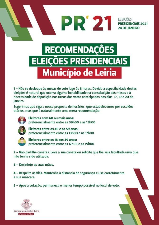 Recomendações para eleições presidenciais