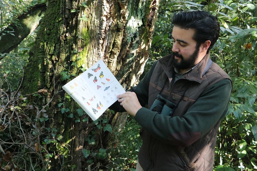 Ornitólogo bombarralense Hélder Cardoso, coordenador do projeto da Rede de Estações de Borboletas Noturnas