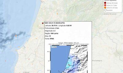 sismo leiria 21 março