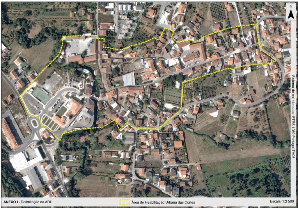 Foto: Delimitação Área de Reabilitação Urbana para as Cortes