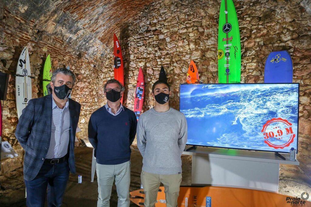 Foto: Conferência de imprensa no Forte de São Miguel, na Praia do Norte
