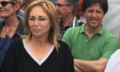 Presidente socialista marinhense Cidália Ferreira acompanhada de Carlos Caetano